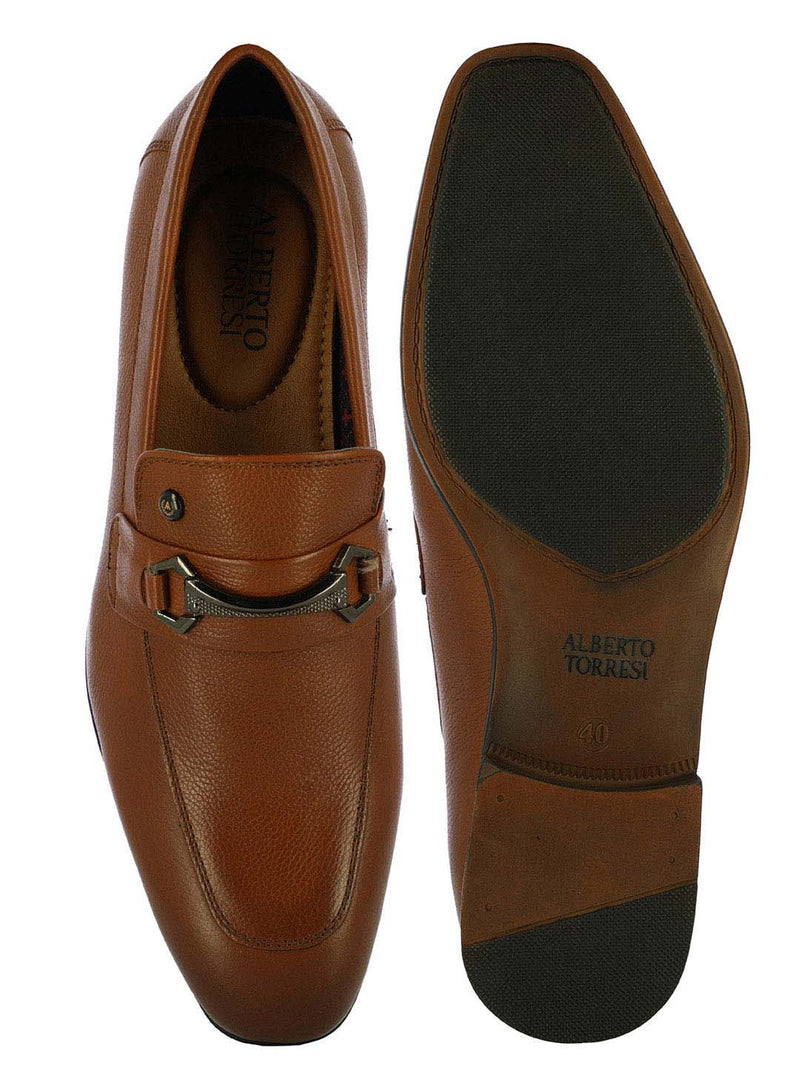 Alberto Torresi  Bristol Buckled Tan Dress Slipon