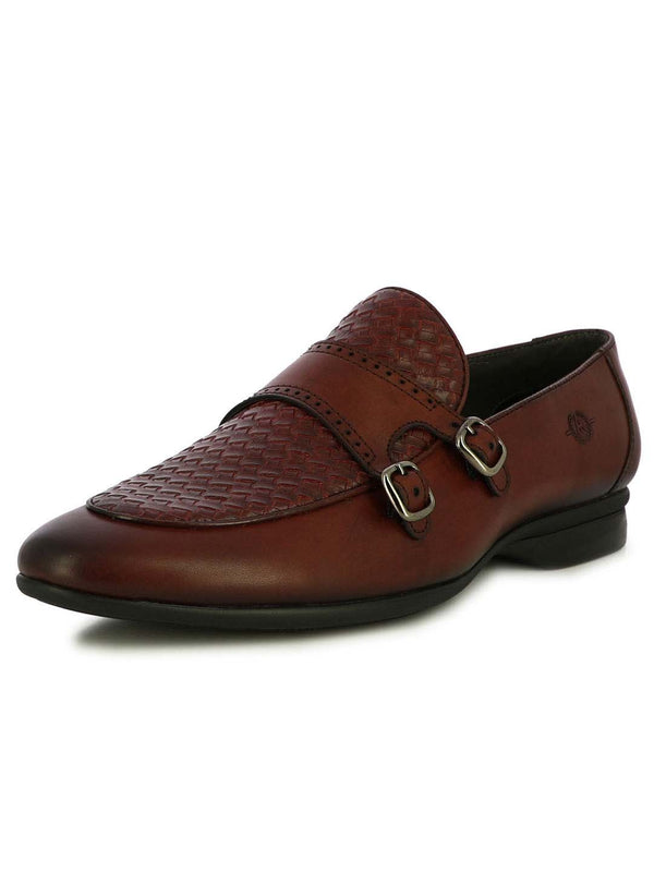 Alberto Torresi Palermo Bordo Men's Double Monk Strap Shoes