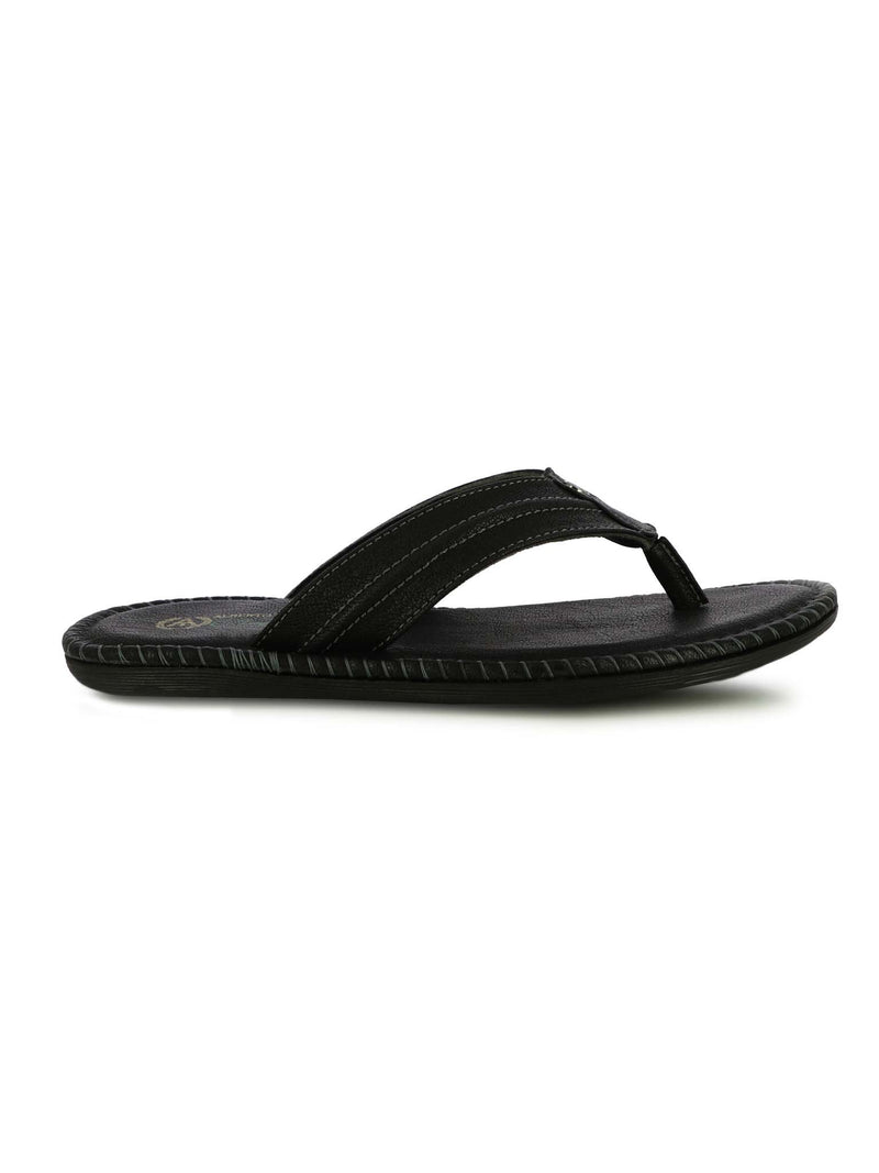 Alberto Torresi Men's Teddy Black Slippers