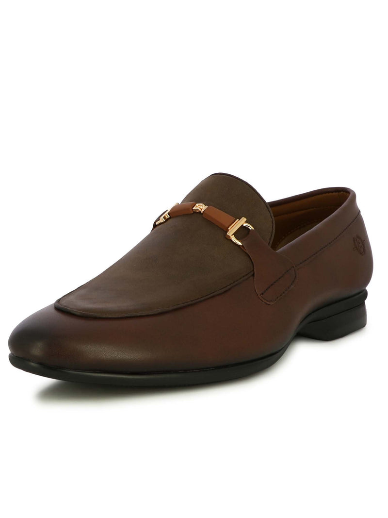 Alberto Torresi Men Revorve  Brown Formal Slip-ons