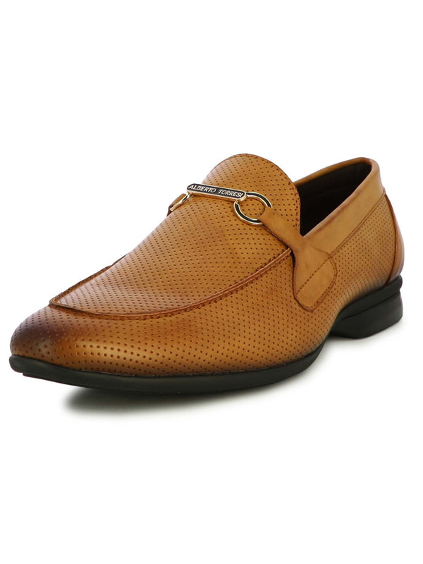 Alberto Torresi Men's Maltis Tan Formal Slip-Ons