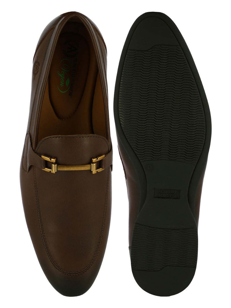 Alberto Torresi Men Cape Brown Formal Slip-ons