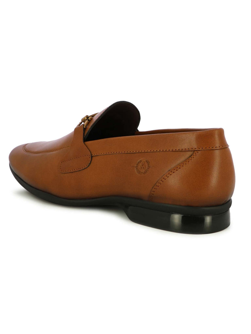 Alberto Torresi Men Cape Tan Formal Slip-ons