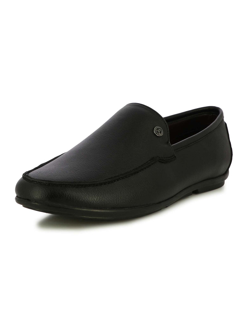 Alberto Torresi Men Faso Black Formal Slip-ons