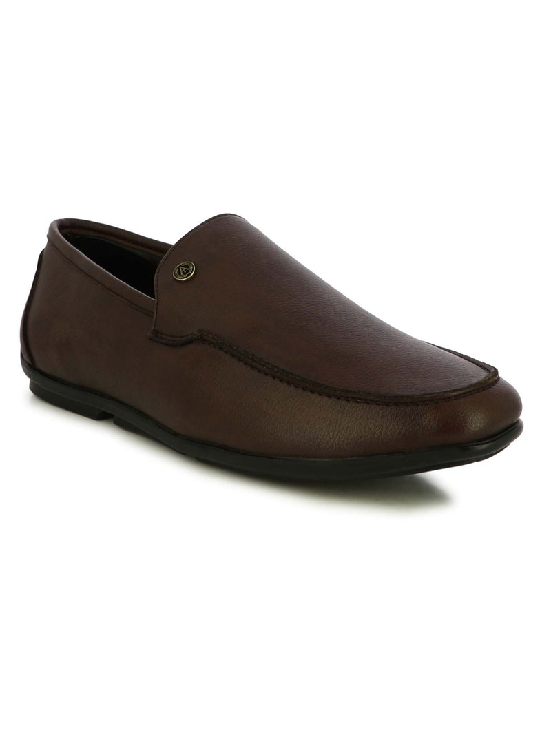 Alberto Torresi Men's Faso Brown Formal Slip-ons
