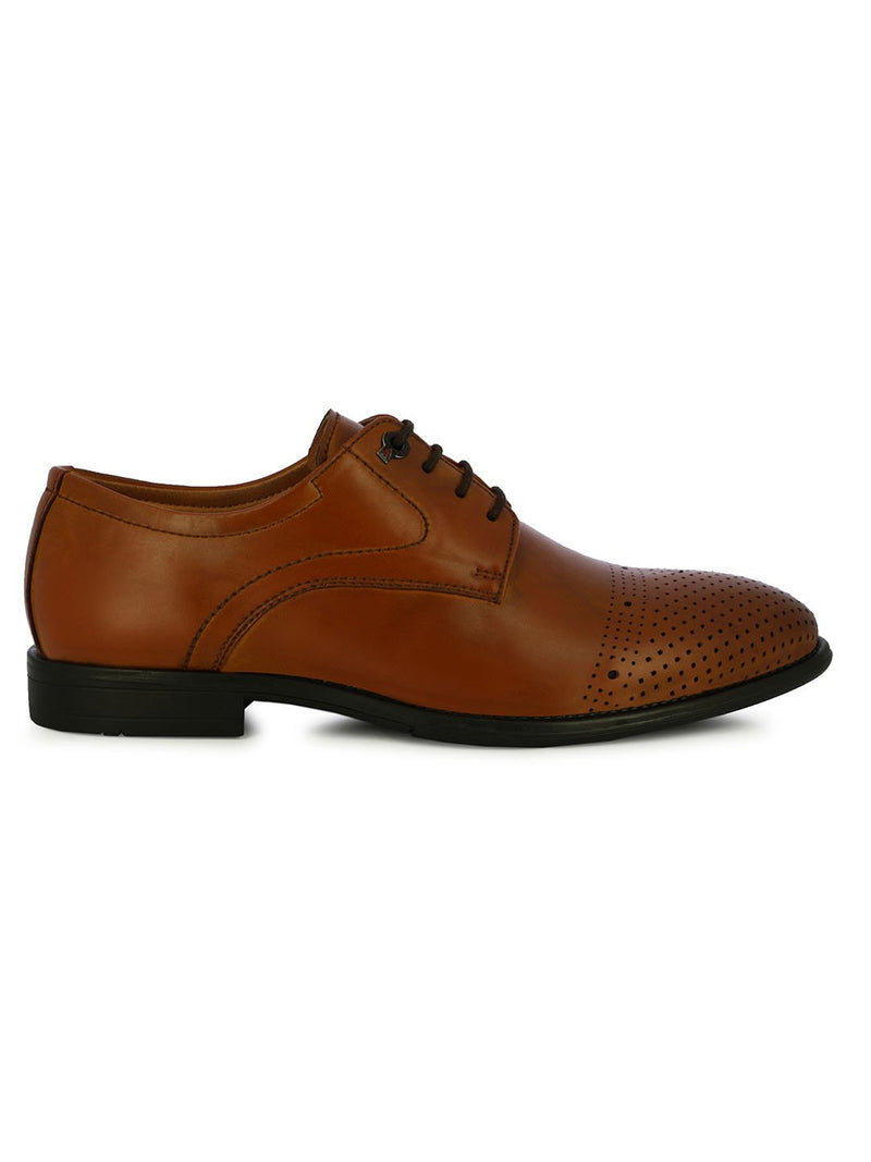 Alberto Torresi Men's Armen Tan Lace Up Shoes
