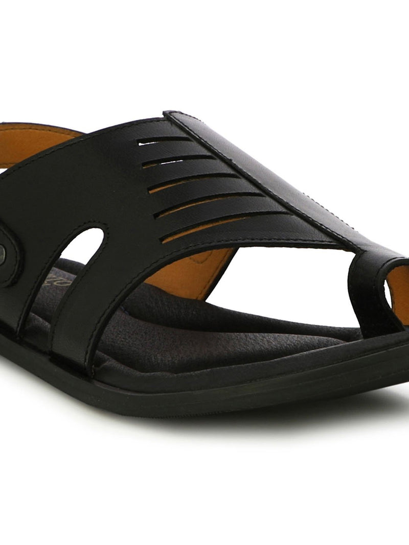 Penney Black Retro Sandals
