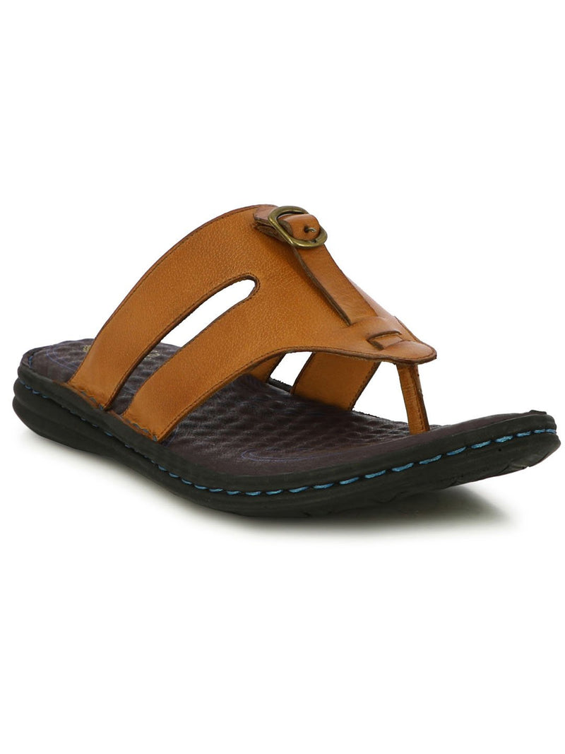 Rodeo Tan Wide Strap Slippers