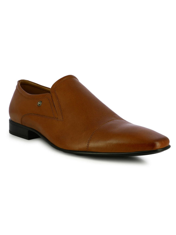 Tan Leather Fomal Slipon