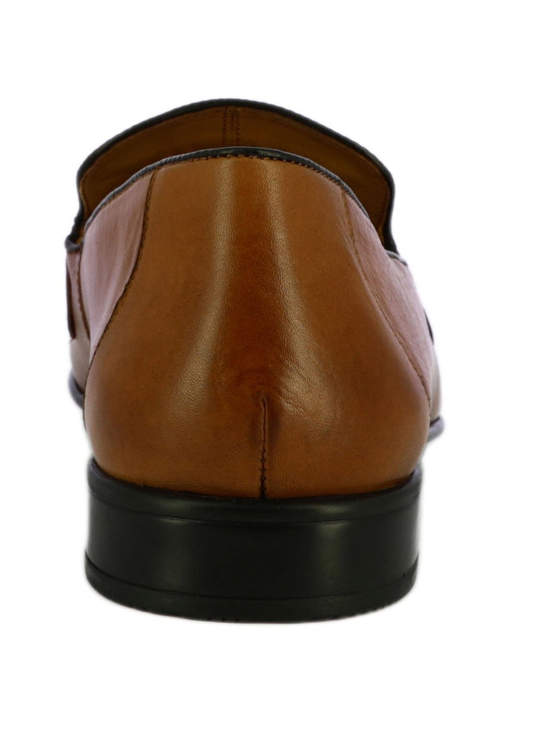 Classic Tan Leather Slip On Shoe