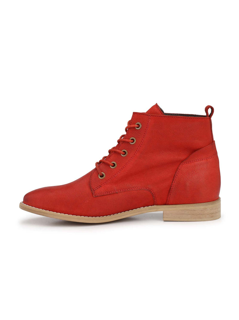 Alberto Torresi Flaming Red Women's Ankle Boots
