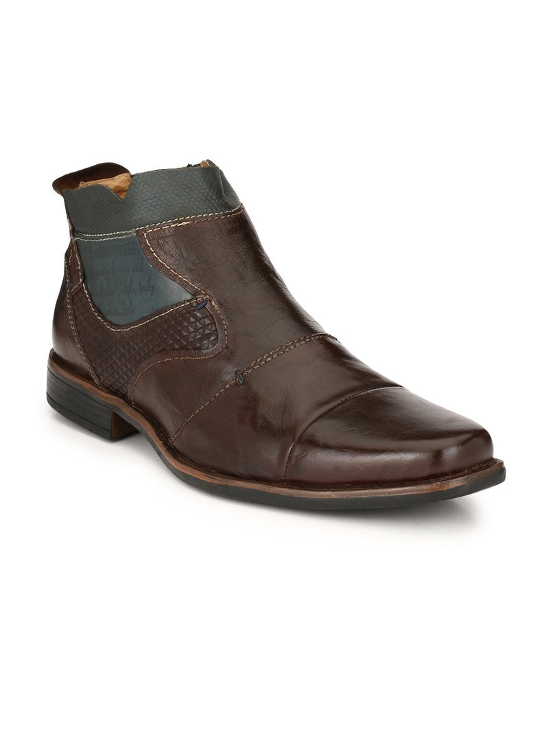 Alberto Torresi Orlando Brown + Blue Boot