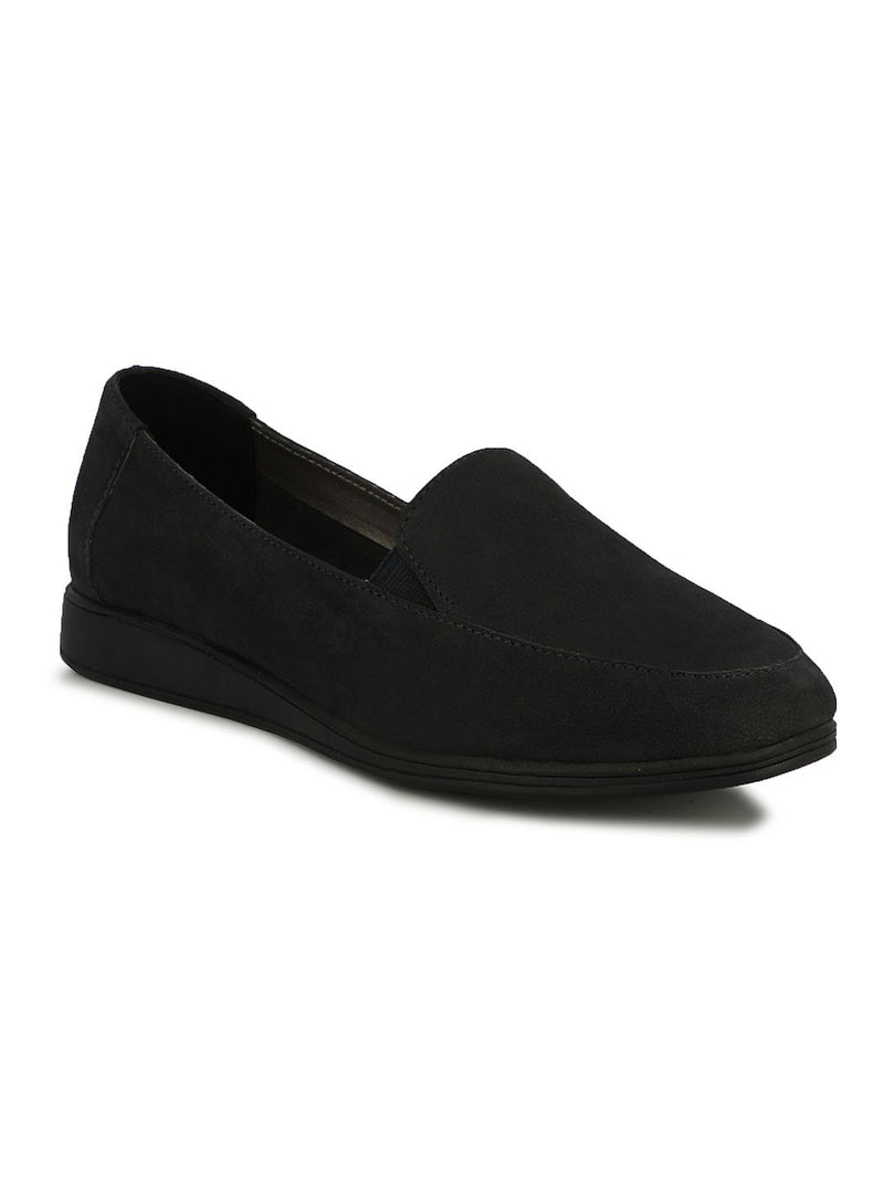 Soothe Navy Leather Slip-ons