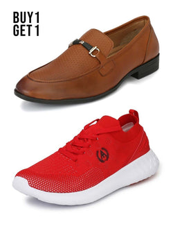 CRAZY BURNISH FORMAL & TIMON RED SNEAKERS