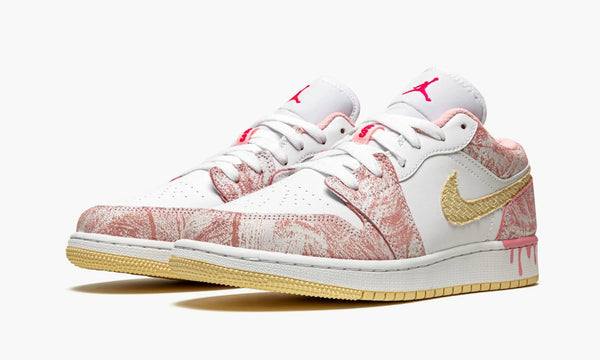 "Air Jordan 1 Low GS ""Paint Drip"" - CW7104 601"