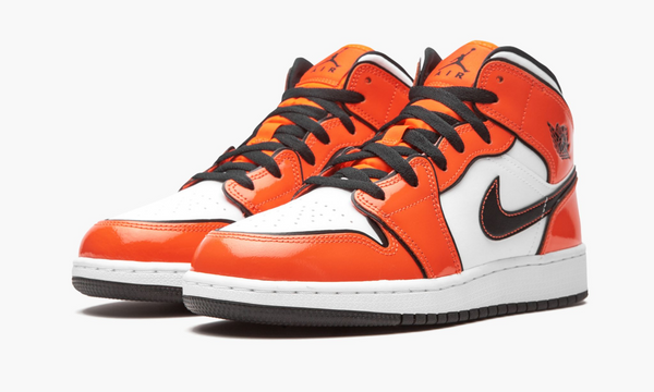 "Air Jordan 1 Mid SE GS ""Turf Orange"" - BQ6931 802"
