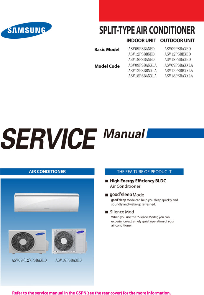 Manual de servicio ASV12PSBBNED ASV12PSBBXED