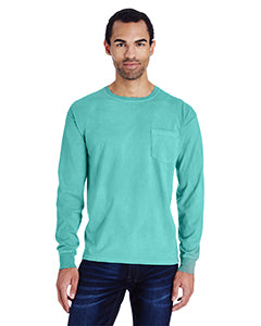 ComfortWash by Hanes Garment Dyed Long Sleeve Pocket T-Shirt GDH250