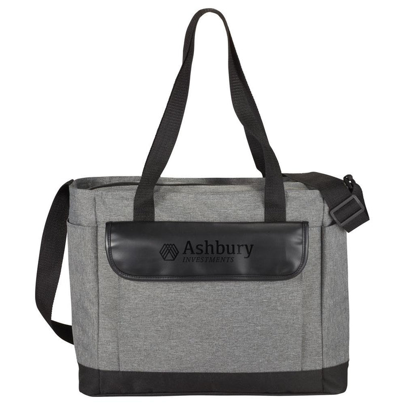 Professional Heathered Tote with Vinyl Accent