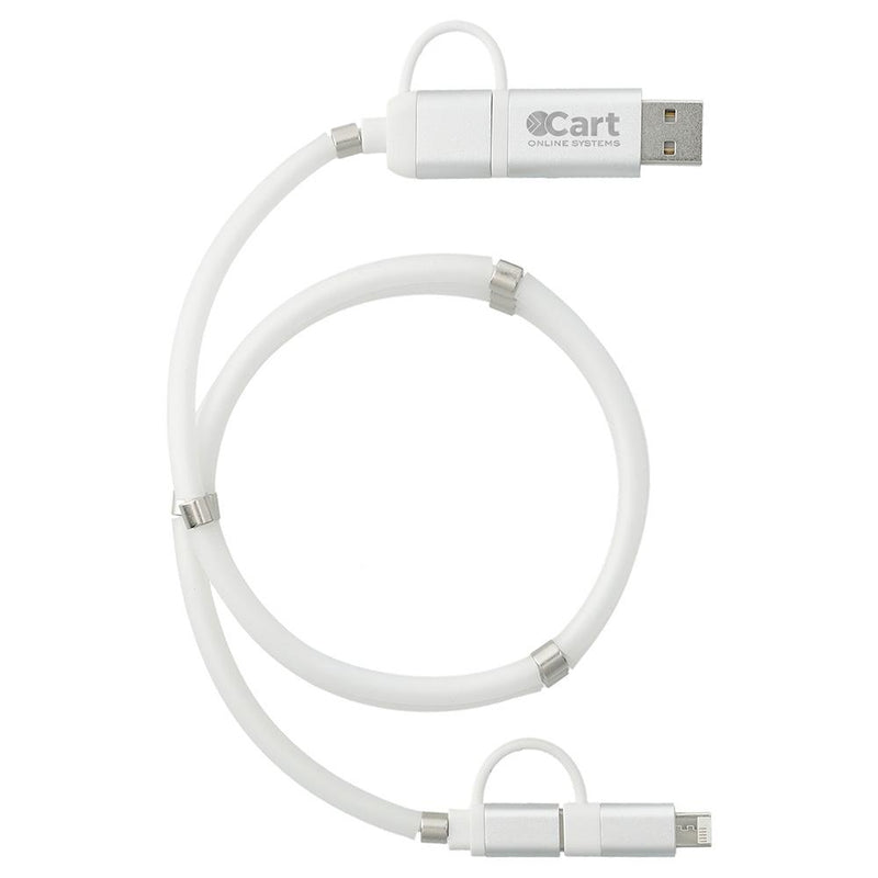 Whirl 5-in-1 Charging Cable with Magnetic Wrap