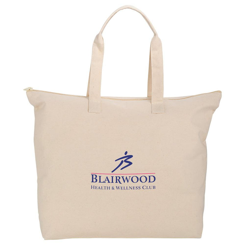 Vermont Basic 8oz Cotton Zippered Tote