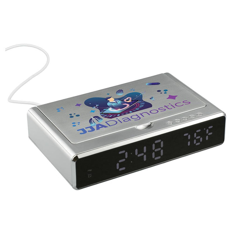 UV Sanitizer Desk Clock with Wireless Charging