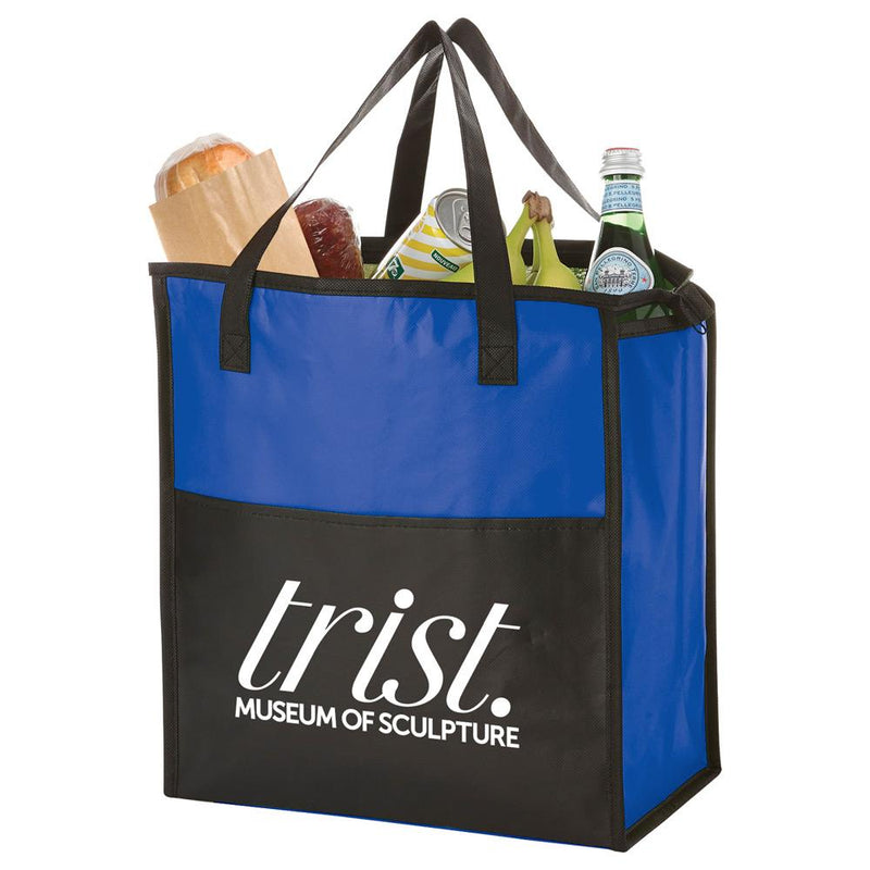 Matte Laminated Insulated Grocery Tote
