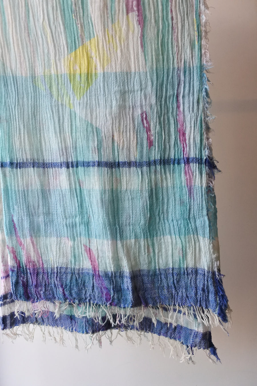 tamaki niime | print shawl BIG cotton