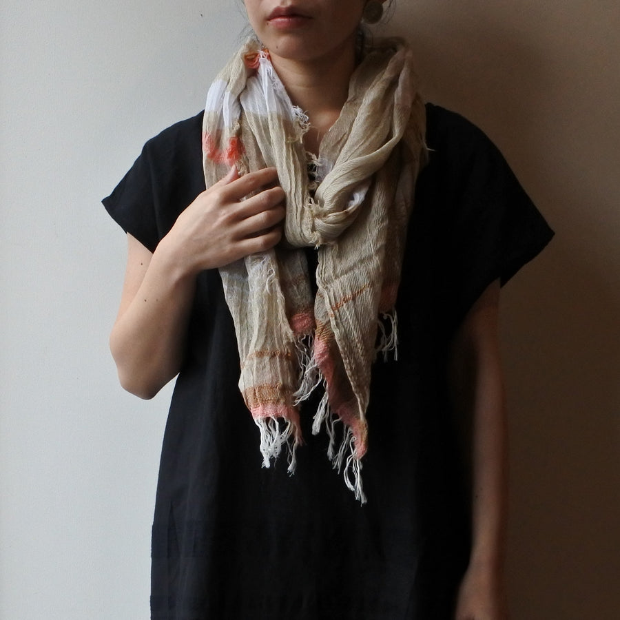 tamaki niime | roots shawl MIDDLE cotton