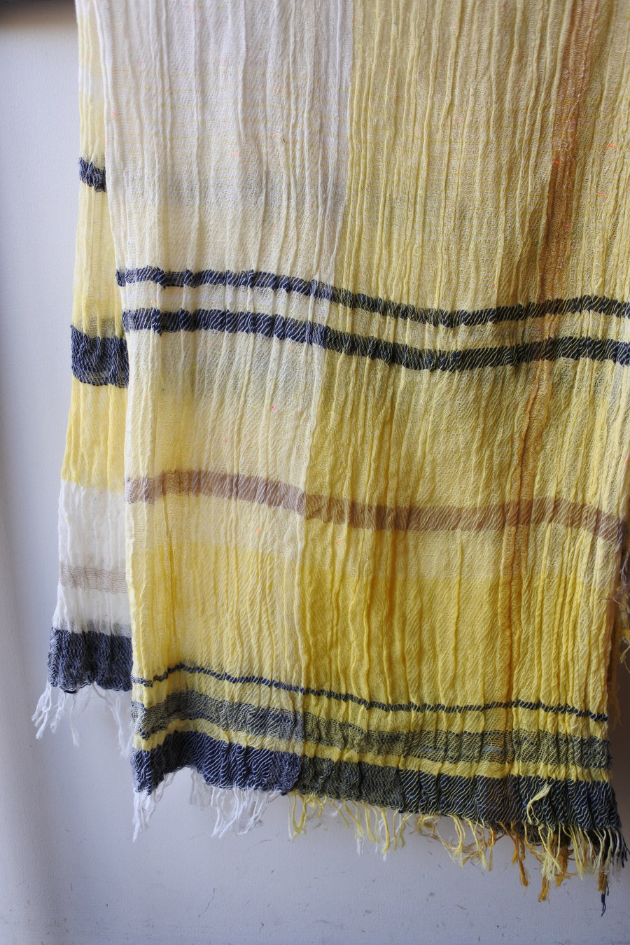 tamaki niime | roots shawl BIG cotton
