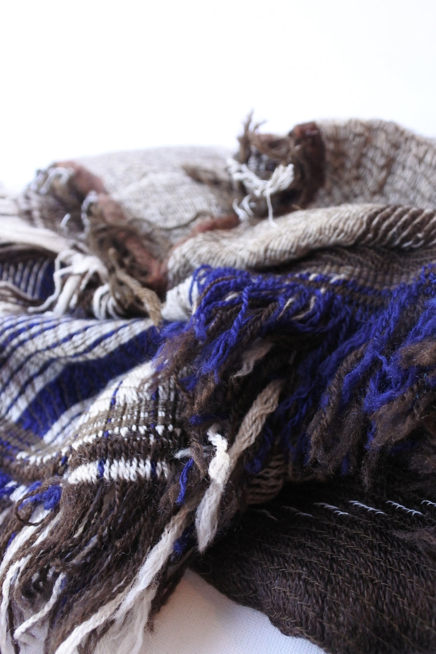 tamaki niime | roots shawl MIDDLE wool