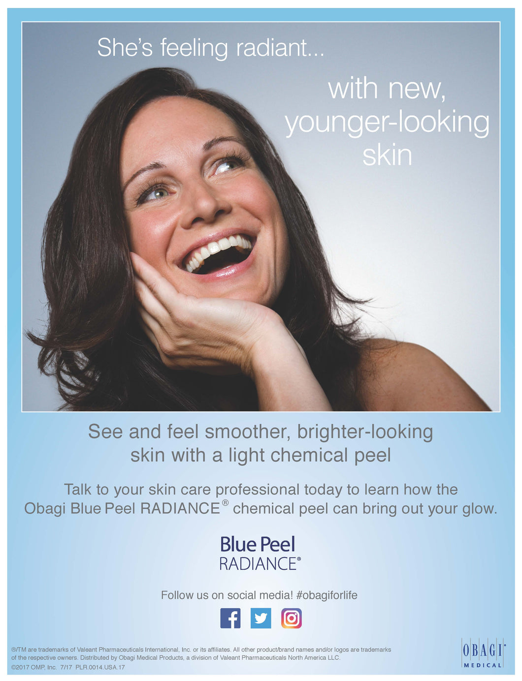 Obagi Blue Peel Radiance - Buy One Get One FREE- Value $160