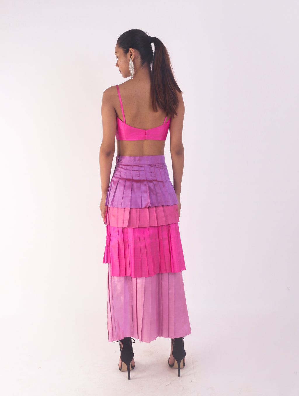 Handwoven pleated skirt w/ Bustier (Set)