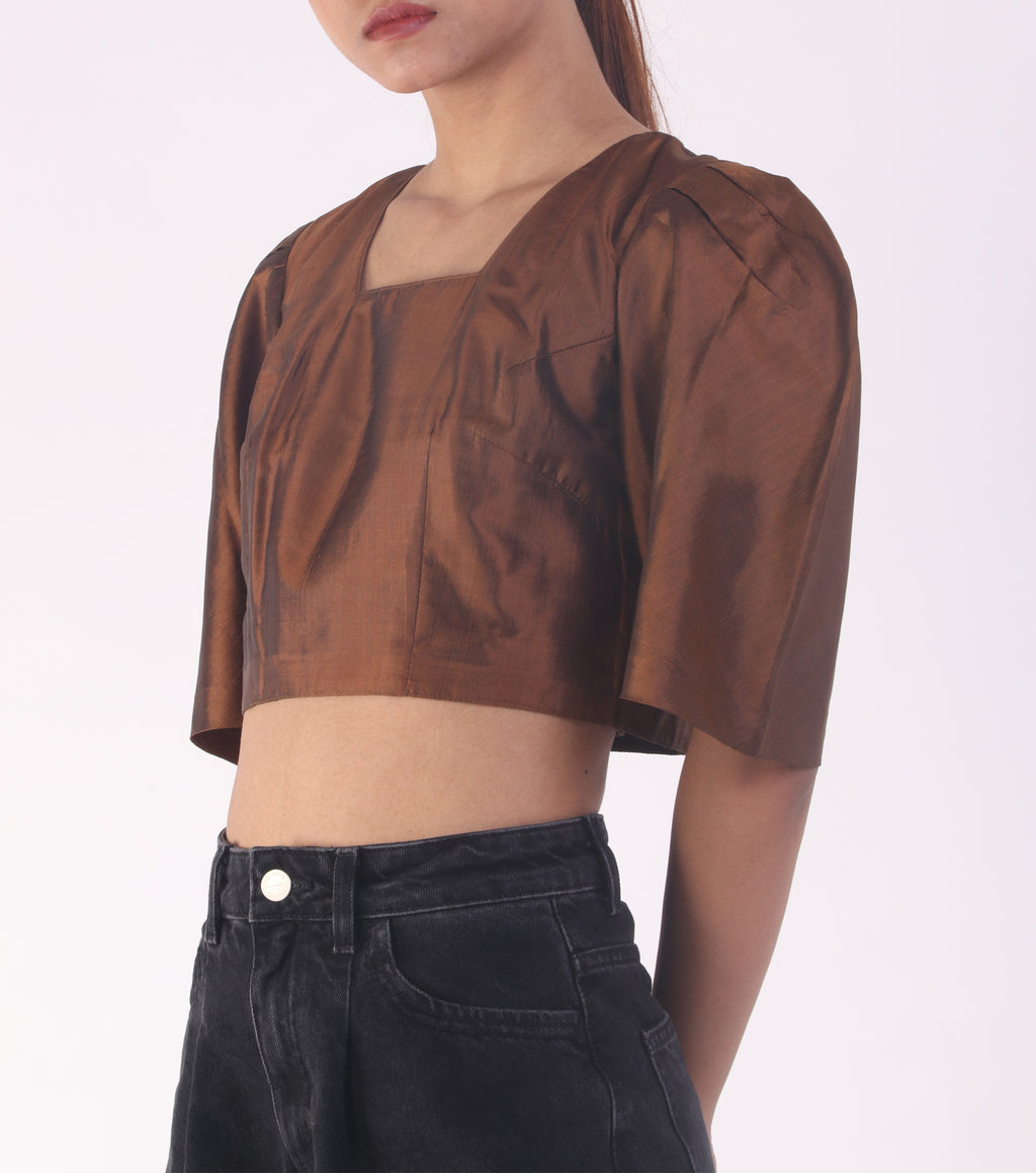 Handwoven crop blouse