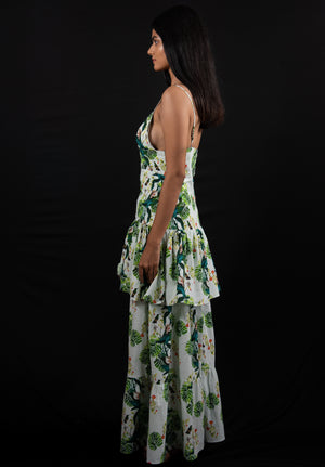 Tropical Rainforest Top w/ Maxi Skirt Set