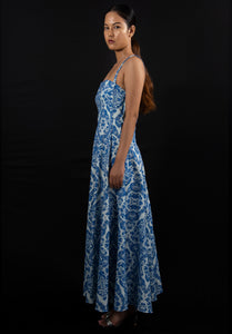 Turkish sea blue dress