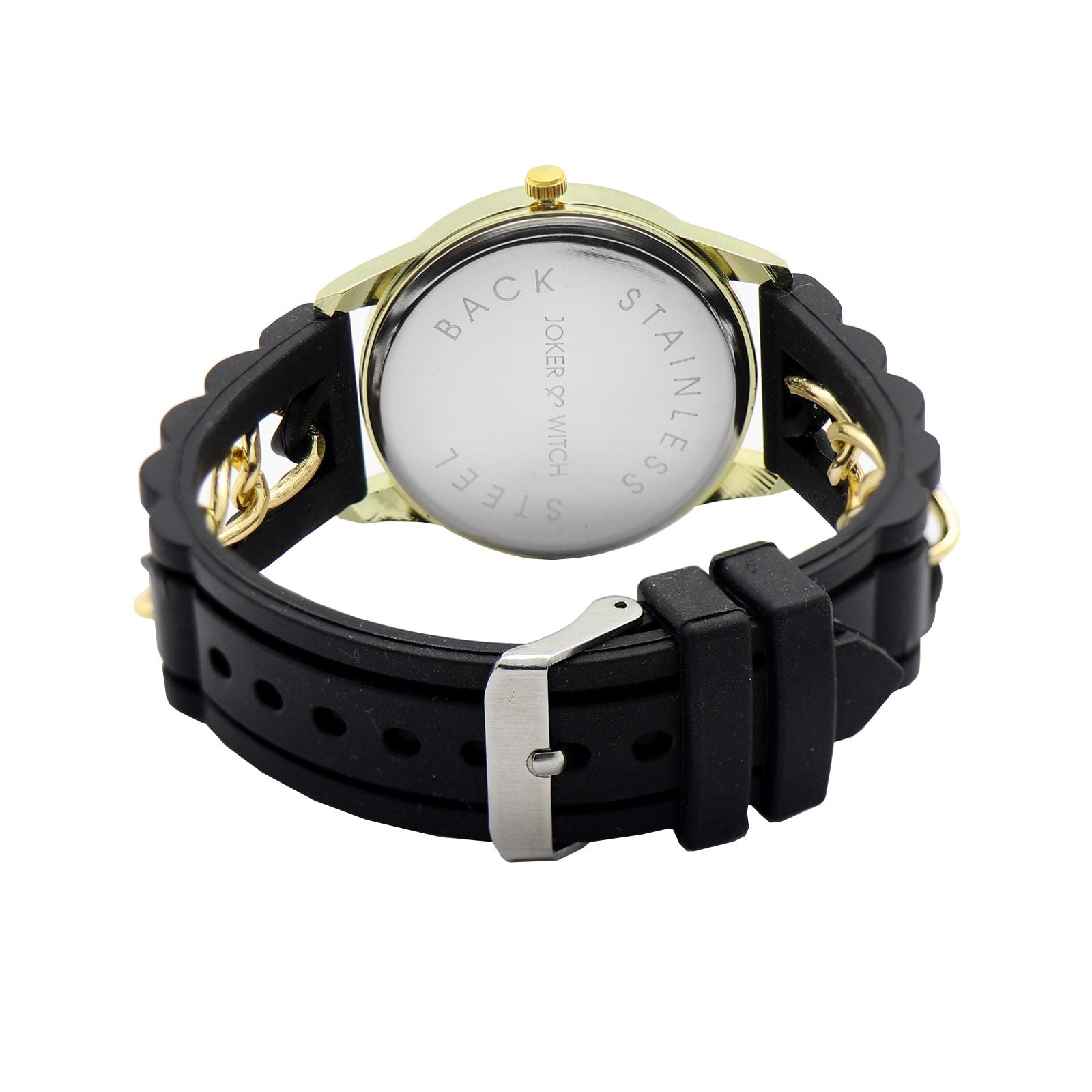 Chained Black Silicone Watch - Joker & Witch