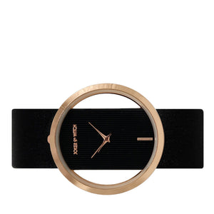 Futuristic Black Rosegold Dial Watch - Joker & Witch