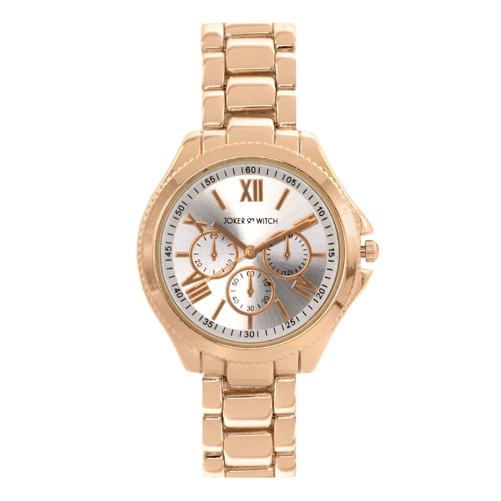 Ella White Dial Rosegold Watch - Joker & Witch