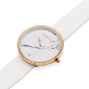 Hailey White Marble Dial Watch - Joker & Witch