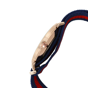 Classic Stripes Blue Red Strap Watch