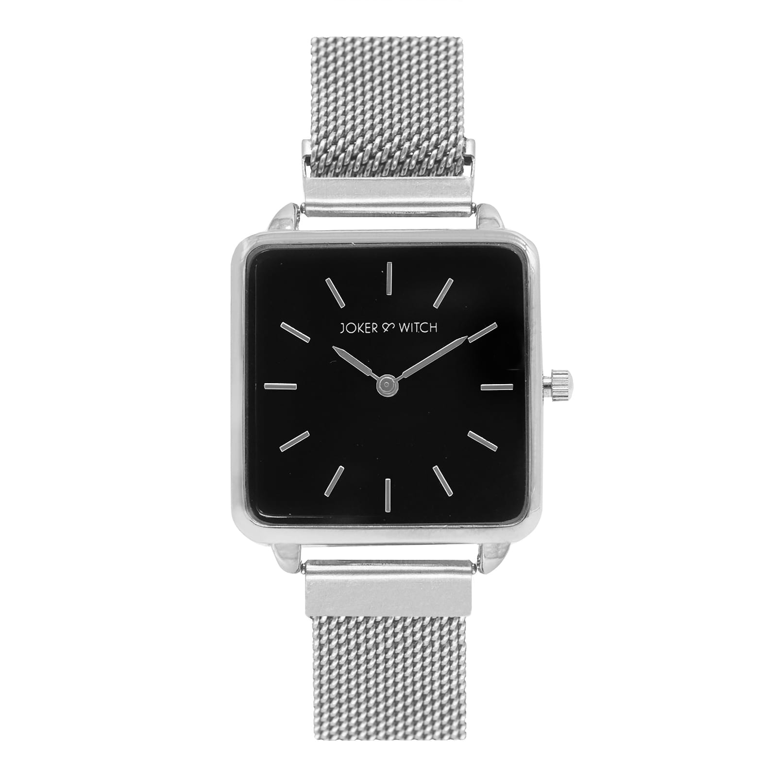 Vintage Square Black Dial Silver Magnetic Watch - Joker & Witch
