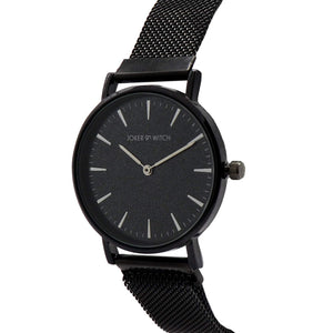 Ivy All Black Magnetic Mesh Watch