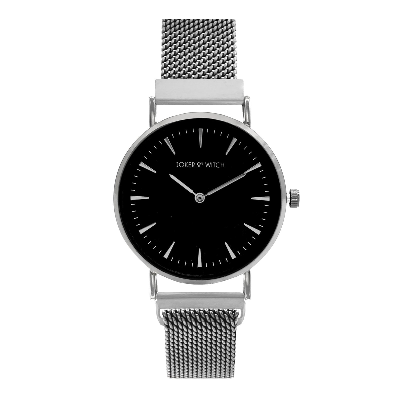 Ivy Black Dial Silver Watch