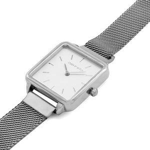 Vintage Square White Dial Silver Magnetic Watch - Joker & Witch
