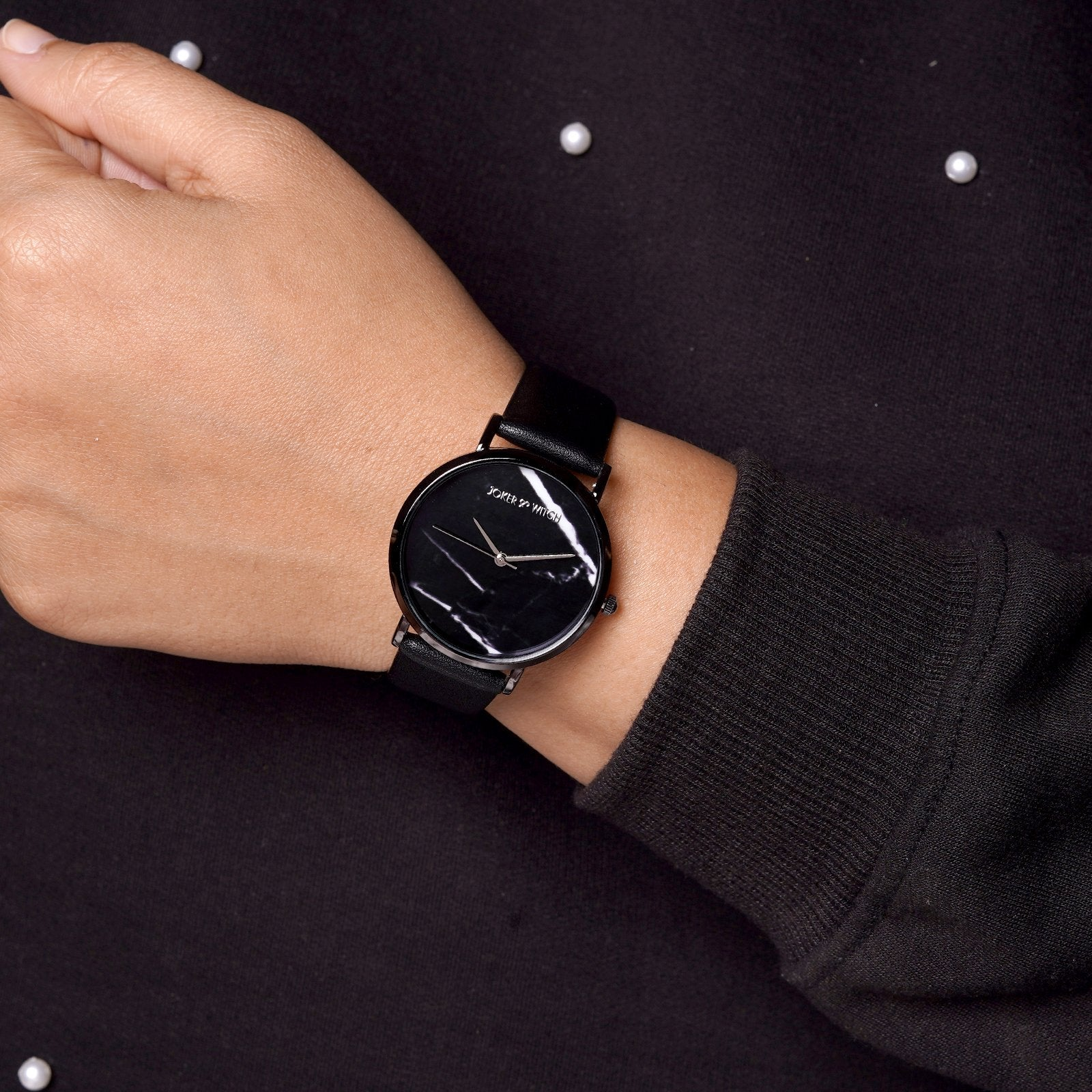 Giselle Marble Dial Black Watch