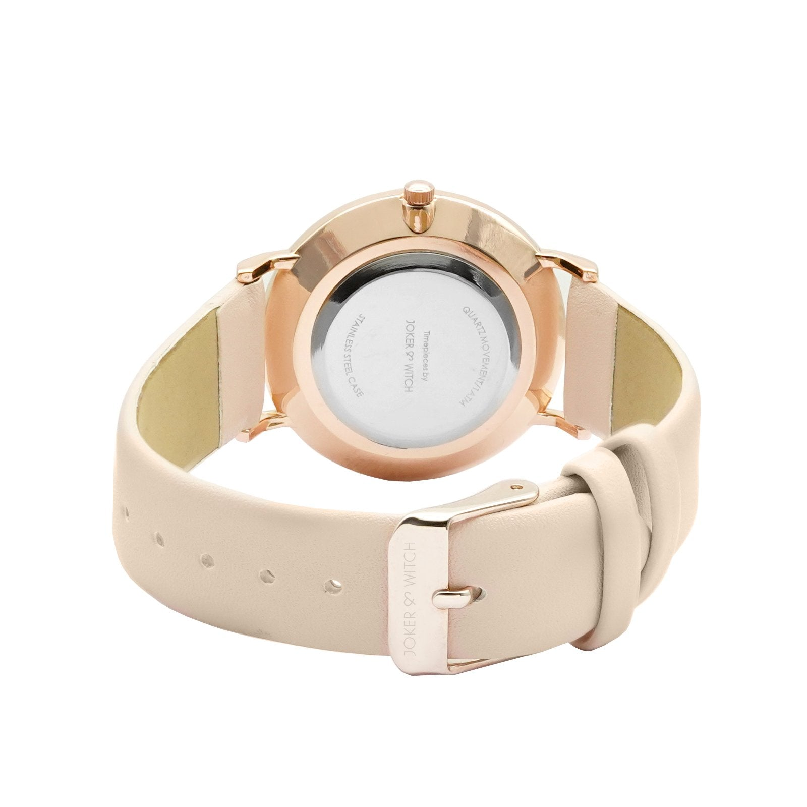 Hannah White Marble Dial Pink Watch