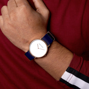 Neo White Dial Blue Nato Strap Watch