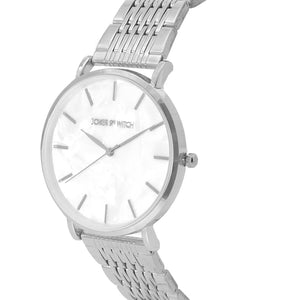 Signature White Dial Silver Watch