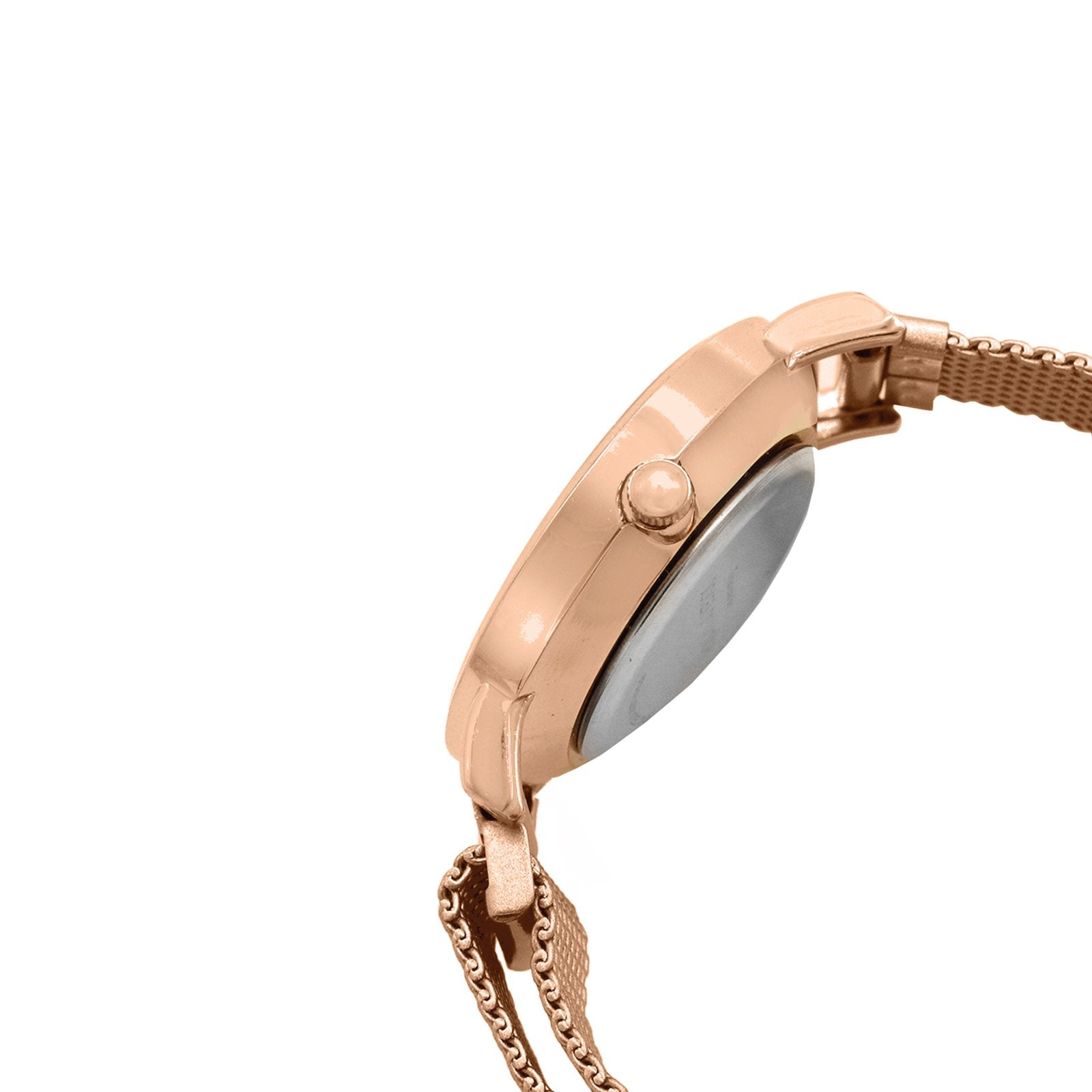Lexi Rose Gold Black Dial Magnetic Watch
